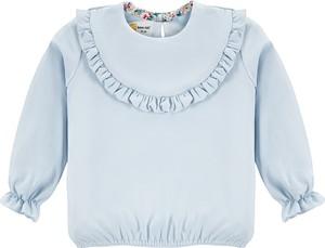 Niebieska bluzka dziecięca Bananakids dla dziewczynek