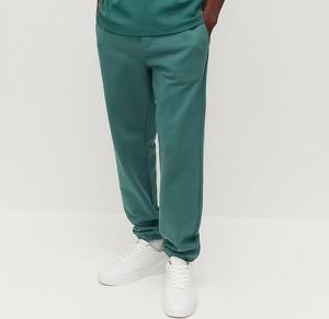 Turkusowe spodnie sportowe Reserved w stylu casual