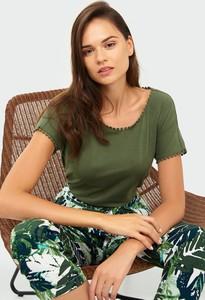 Top Greenpoint w stylu casual z bawełny z okrągłym dekoltem
