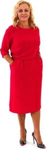 Czerwona sukienka Roxana - sukienki midi