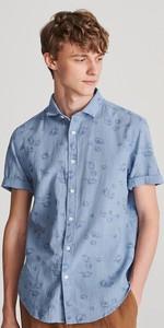 Koszula Reserved z nadrukiem z krótkim rękawem