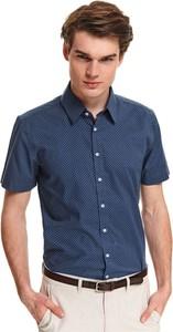 Koszula Top Secret z krótkim rękawem z klasycznym kołnierzykiem w stylu casual