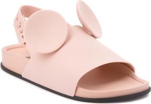 Turkusowe sandały melissa w młodzieżowym stylu z klamrami z płaską podeszwą