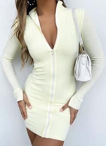 Sukienka Cikelly w stylu casual z długim rękawem dopasowana