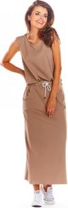 Brązowa spódnica Infinite You z bawełny