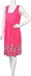 Różowa sukienka Floryday bez rękawów mini z okrągłym dekoltem