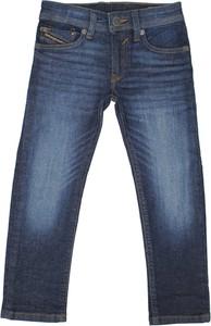 Granatowe spodnie dziecięce Diesel dla chłopców