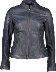 Czarna kurtka 7eleven ze skóry krótka w rockowym stylu