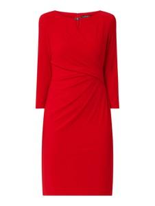 Czerwona sukienka Ralph Lauren z długim rękawem mini