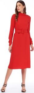 Czerwona sukienka Jimmy Sanders trapezowa