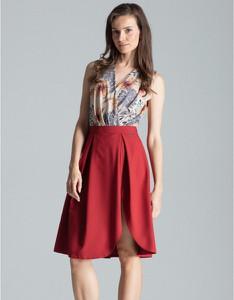 Czerwona spódnica Figl midi