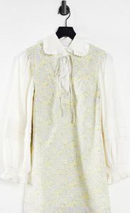 Sukienka Lost Ink z dekoltem w kształcie litery v w stylu casual koszulowa