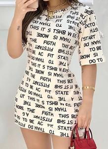 Sukienka Arilook z dresówki w stylu casual mini