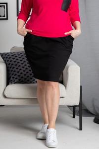 Czarna spódnica KARKO mini z dresówki