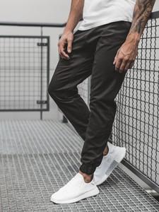 Czarne spodnie Ozonee z bawełny