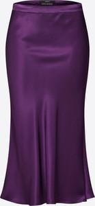 Fioletowa spódnica Set z satyny