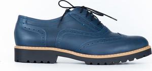 Niebieskie półbuty Zapato sznurowane
