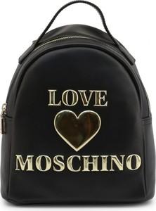 Czarny plecak Love Moschino ze skóry