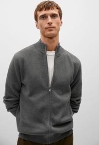 Sweter Mango Man ze stójką w stylu casual
