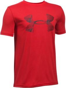 Czerwona koszulka dziecięca Under Armour z krótkim rękawem