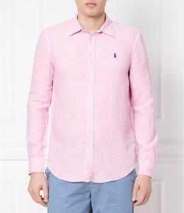 Różowa koszula POLO RALPH LAUREN z długim rękawem