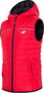 Czerwona kurtka dziecięca 4f junior