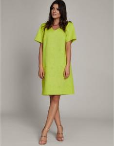 Sukienka ELEONORA PORTERA z krótkim rękawem z tkaniny