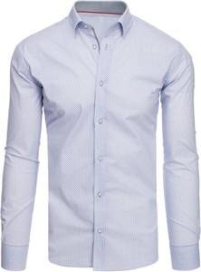 Niebieska koszula Dstreet w stylu casual z długim rękawem z klasycznym kołnierzykiem