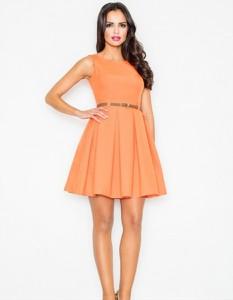 Pomarańczowa sukienka Figl bez rękawów mini