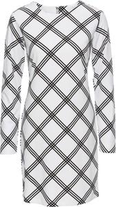 Biała sukienka bonprix bodyflirt na co dzień z dżerseju dopasowana