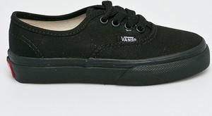 Czarne trampki dziecięce Vans sznurowane