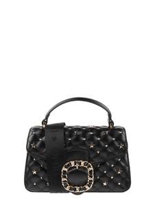 Czarna torebka Liu-Jo Jeans ze skóry do ręki mała
