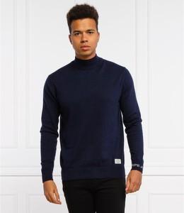 Granatowy sweter Pepe Jeans w stylu casual z wełny