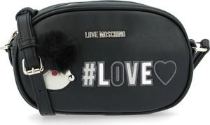 Czarna torebka Love Moschino na ramię w stylu casual