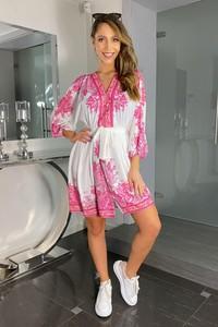 Różowa sukienka Ella Boutique