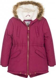 Różowa kurtka dziecięca Endo ze skóry