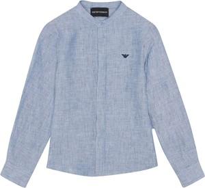 Niebieska koszula dziecięca Emporio Armani dla chłopców