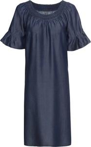 Sukienka bonprix RAINBOW z krótkim rękawem z okrągłym dekoltem