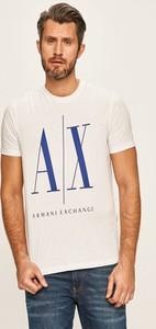 T-shirt Armani Exchange z dzianiny z krótkim rękawem