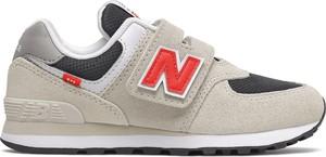 Buty sportowe dziecięce New Balance z zamszu na rzepy
