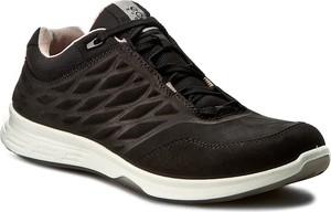Buty sportowe Ecco sznurowane w sportowym stylu ze skóry