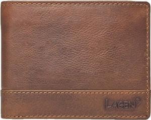 Brązowy portfel męski Lagen ze skóry