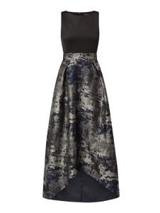 Granatowa sukienka Swing z okrągłym dekoltem