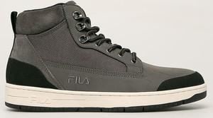 Brązowe buty zimowe Fila