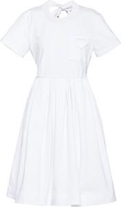 Sukienka Prada z bawełny