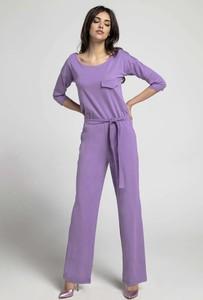 Fioletowy kombinezon Nommo z bawełny z długimi nogawkami