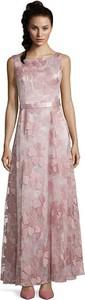 Różowa sukienka Vera Mont bez rękawów maxi
