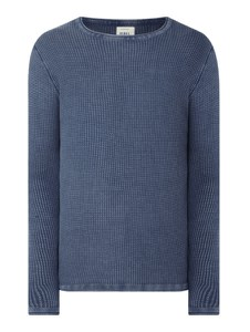 Granatowy sweter Redefined Rebel z okrągłym dekoltem z bawełny w stylu casual