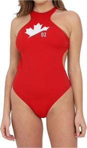 Czerwony strój kąpielowy Dsquared2
