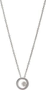 RABAT DODATKOWY Naszyjnik DIAMONDS białe złoto 585 z brylantem i kółkiem